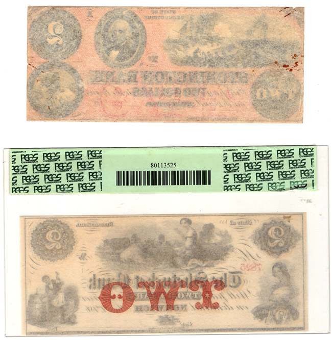Group of five Obsolete notes