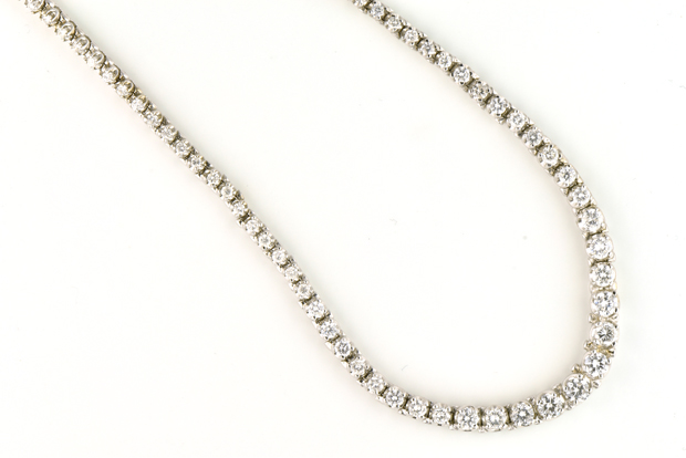 038e3380e30e26 Scotsman Auction Co. - Lot #236 - 14K White Gold Graduated Diamond ...