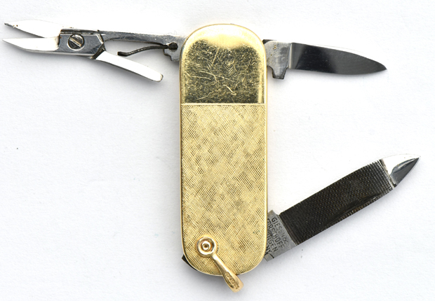 Men's Gold Watch Fob Knives