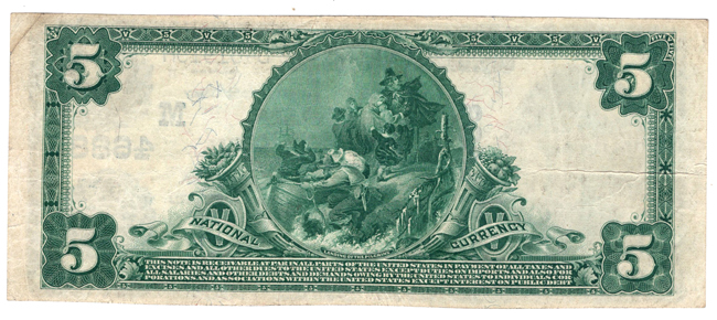 1902 $5 Blue Seal - Vernon, IN Charter #4688 - VF
