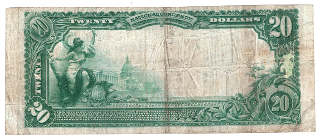 1902 $20 Blue Seal - Maryville, MO Charter #3268 - F