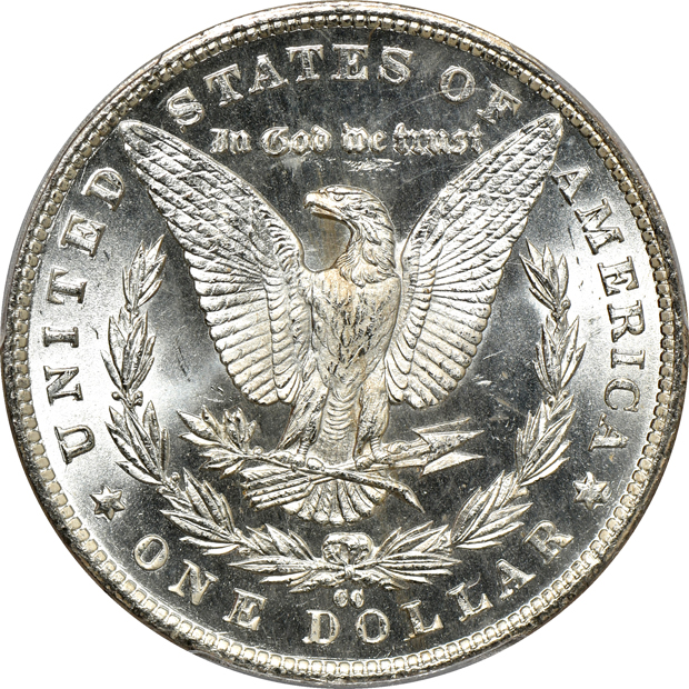 1882-CC MS-65, and an 1883-CC MS-65PL, both PCGS