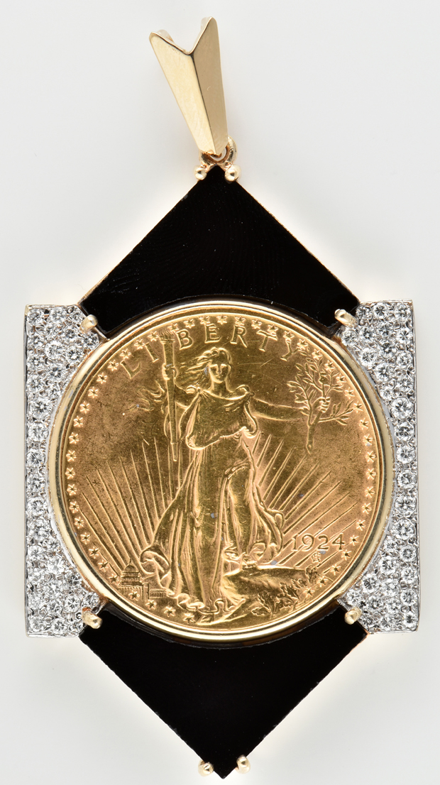 14K Yellow Gold Saint-Gaudens Pendant