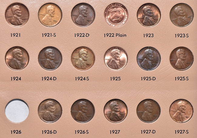 Nearly complete collection of Lincoln cents, 1909 through 2014, including proof-only issues, in a Dansco 8100 album