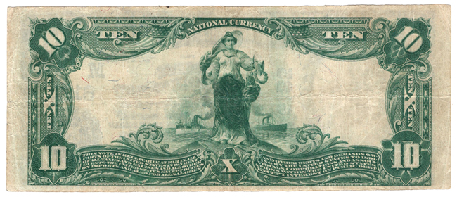 1902 $10 Blue Seal - Collinsville, IL Charter #6125 - VF