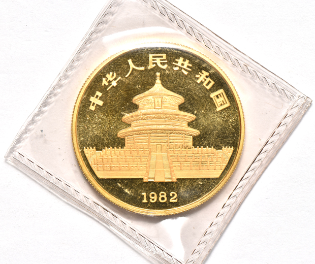 China - 1982 1oz gold Panda sealed