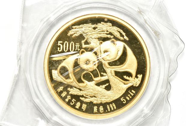 China - 1988 5oz gold Panda 500 yuan double sealed with case and box (no certificate)