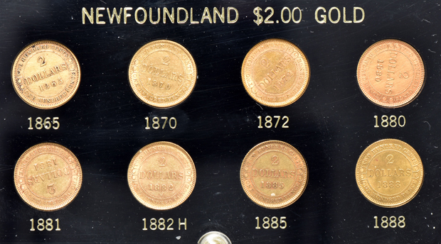 Canada - Newfoundland $2.00 gold eight coin set in a Capital Plastics holder