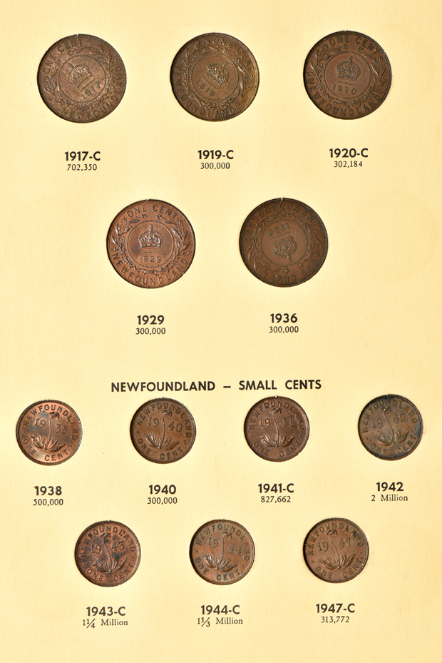 Canada - Complete collections of New Brunswick, Nova Scotia, Prince Edward Island and Newfoundland coins it two Library of Coins albums, vol. 68 and 69.