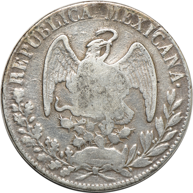 Multiple - 1765 Mexico 8 reales XF, and an 1833/2-Do-RM/L Philippines counter-stamped 8 reales VF