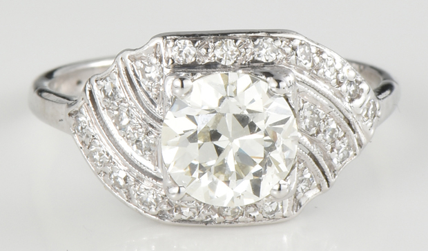 Platinum Diamond Ring with a 1.12 Carat Circular Brilliant Diamond, GIA #6214087240