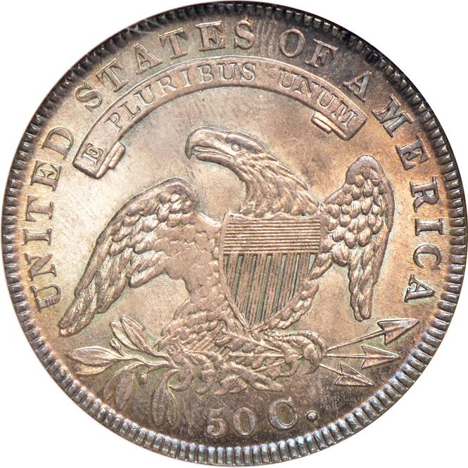 1834 Half Dollar LARGE DATE, SMALL LETTERS NGC, MS-65