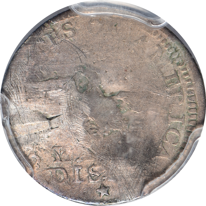 1792 Half Disme PCGS/Genuine/Damage